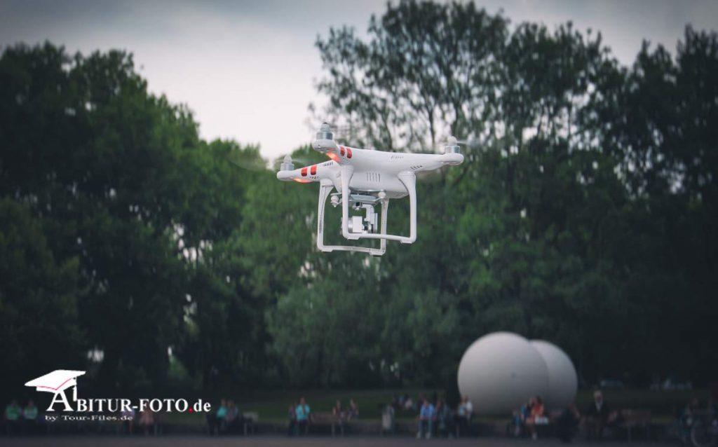 Abiball fotografiert mit Drohne